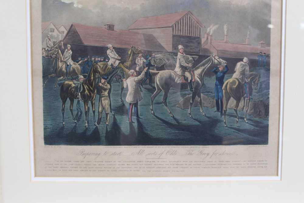 Henry Alken, set of four hand coloured engravings - First Steeple Chase on Record - Image 3 of 11