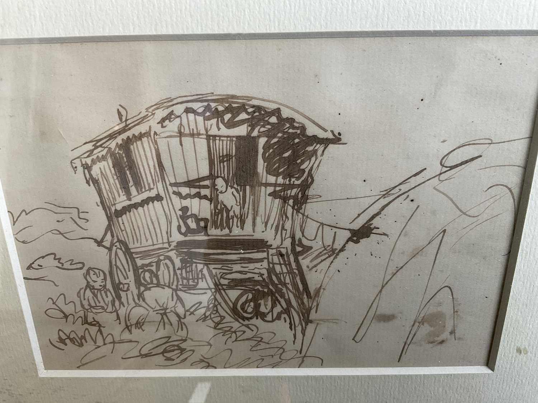 *Augustus John, pair of pen and ink drawings - Image 4 of 9