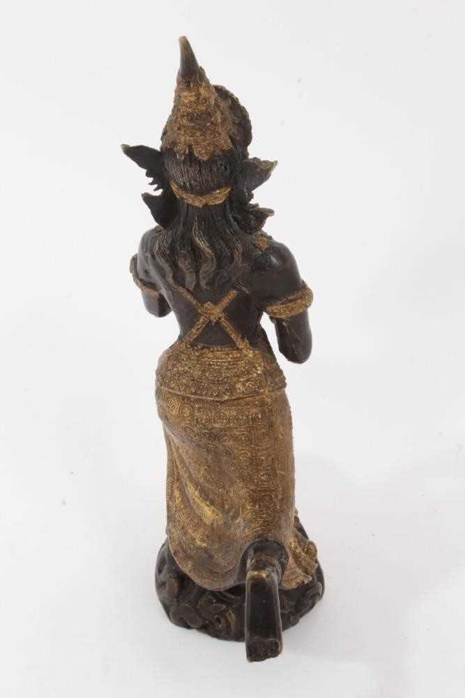 Burmese gilt bronze dancing figure - Image 3 of 5