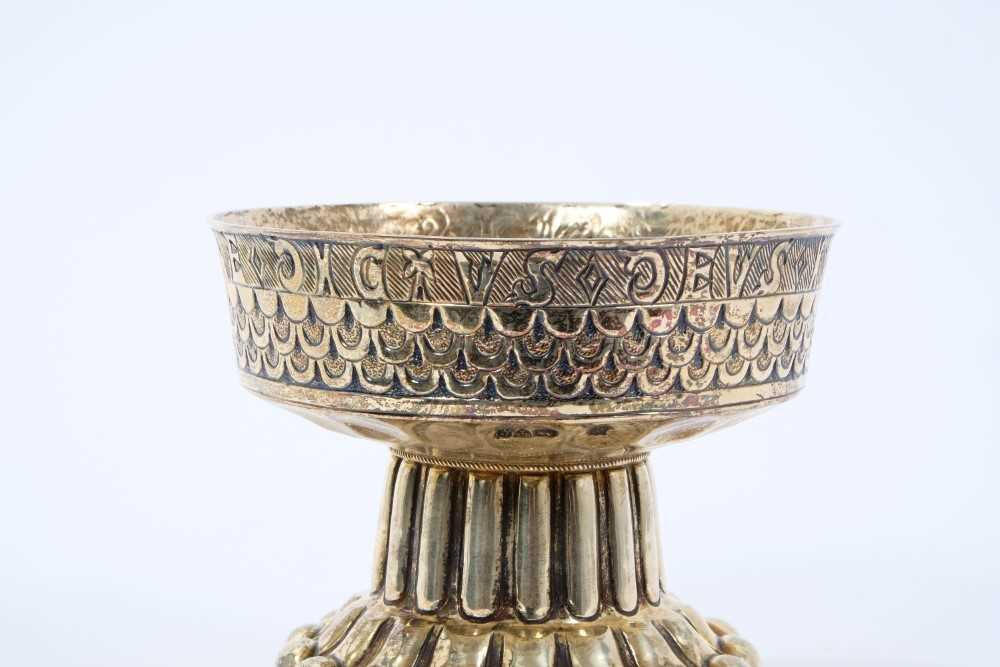 """Edwardian silver gilt replica of """"The Tudor Cup"""" by Nathan and Hayes - Image 2 of 5"""