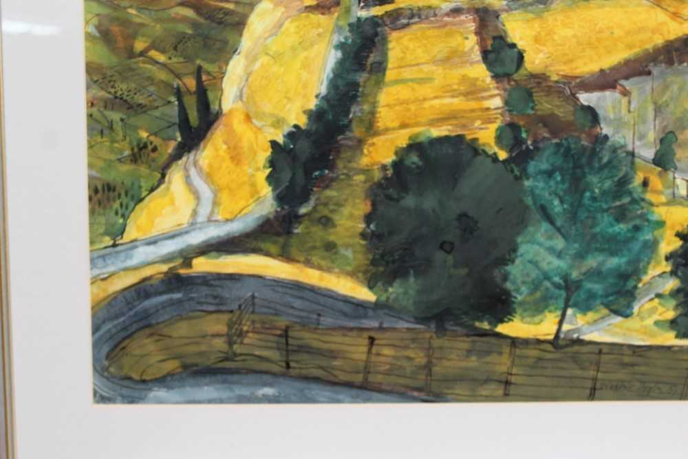 *Walter Hoyle (1922-2000) watercolour - A Valley, signed and dated '51, 46cm x 59cm, in glazed frame - Image 7 of 9