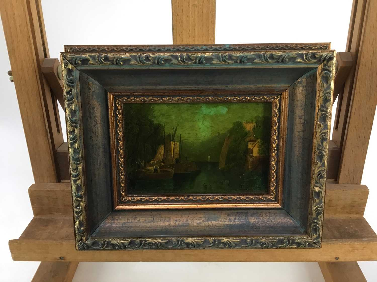 Jenny Simpson (1931-2020), Georgian-style glass pictures, framed and glazed - eight mixed pictures - Image 6 of 11