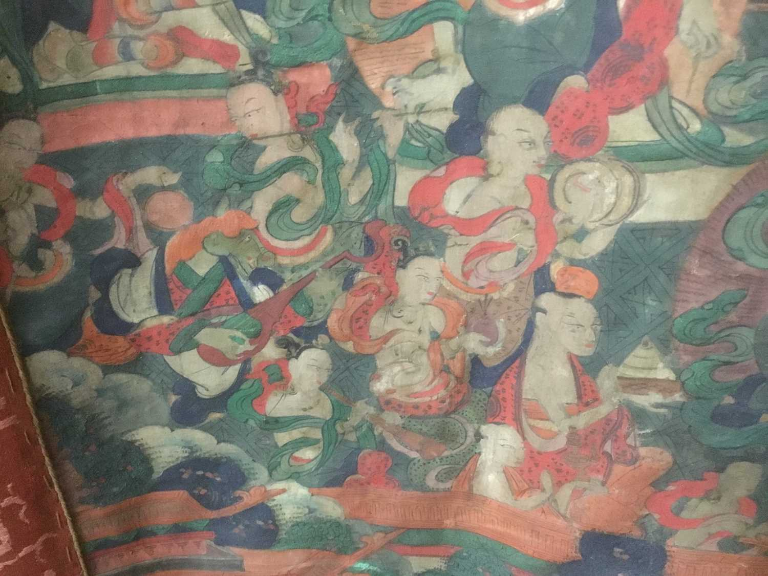 Early Tibetan thangka together with a related framed letter - Image 14 of 14