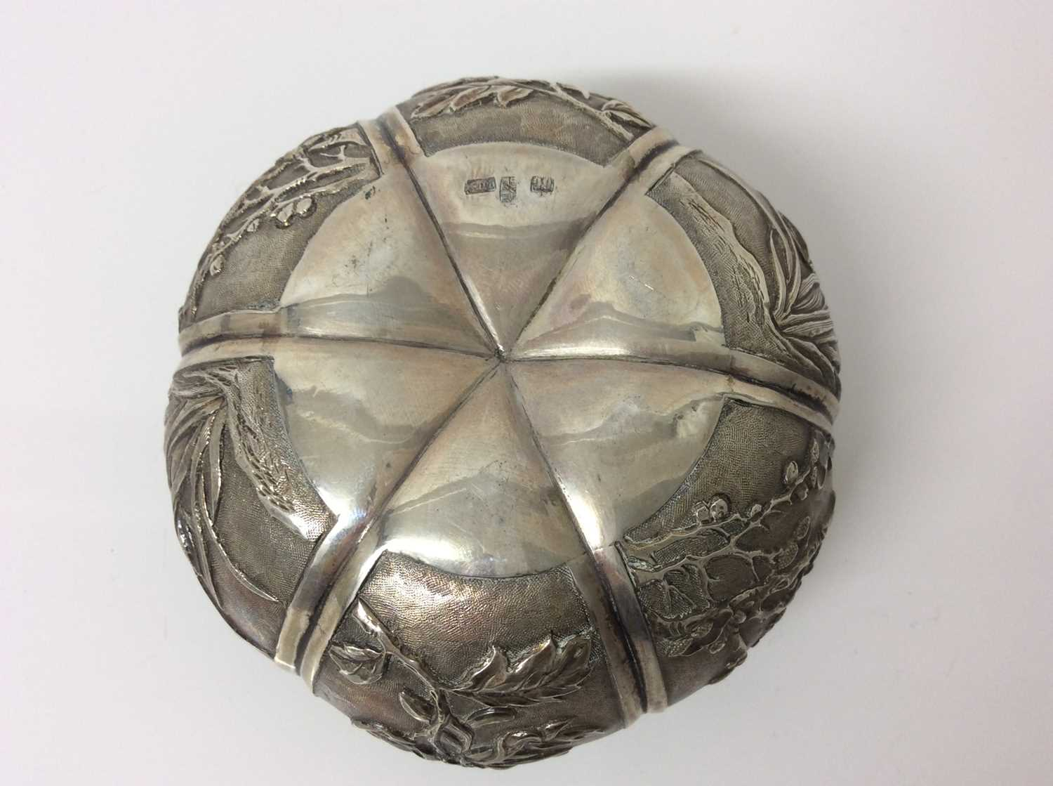 Late 19th/early 20th century Chinese silver lidded pot - Image 9 of 10