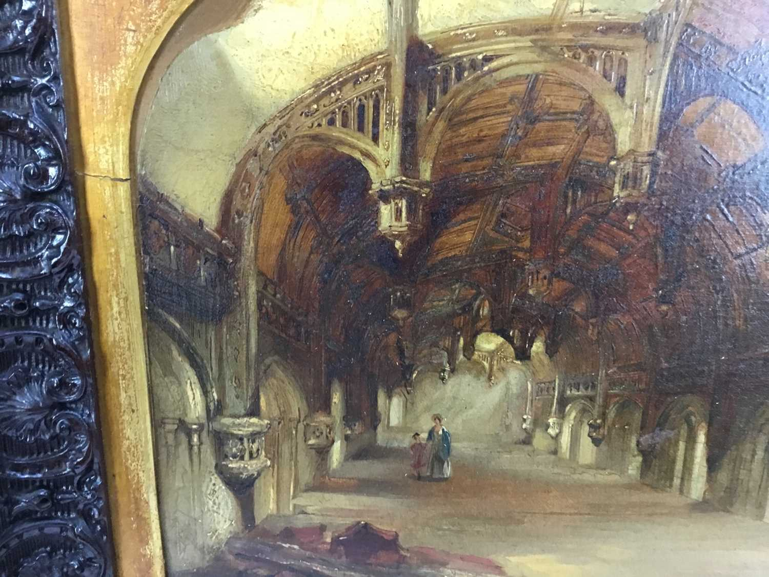 Daniel I Pasmore (act. 1829-1865) oil on canvas 'Crosby Hall', signed and dated 1836, 29 x 39cm, car - Image 7 of 10