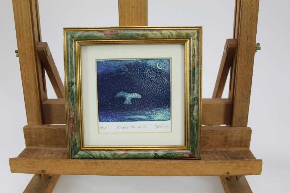 Group of contemporary signed etching etchings, prints and other works, mostly East Anglian artists t - Image 29 of 42