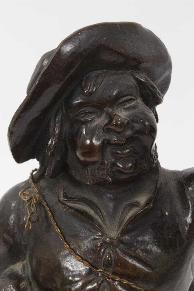 19th Century bronze figure of a game dealer - Image 4 of 5