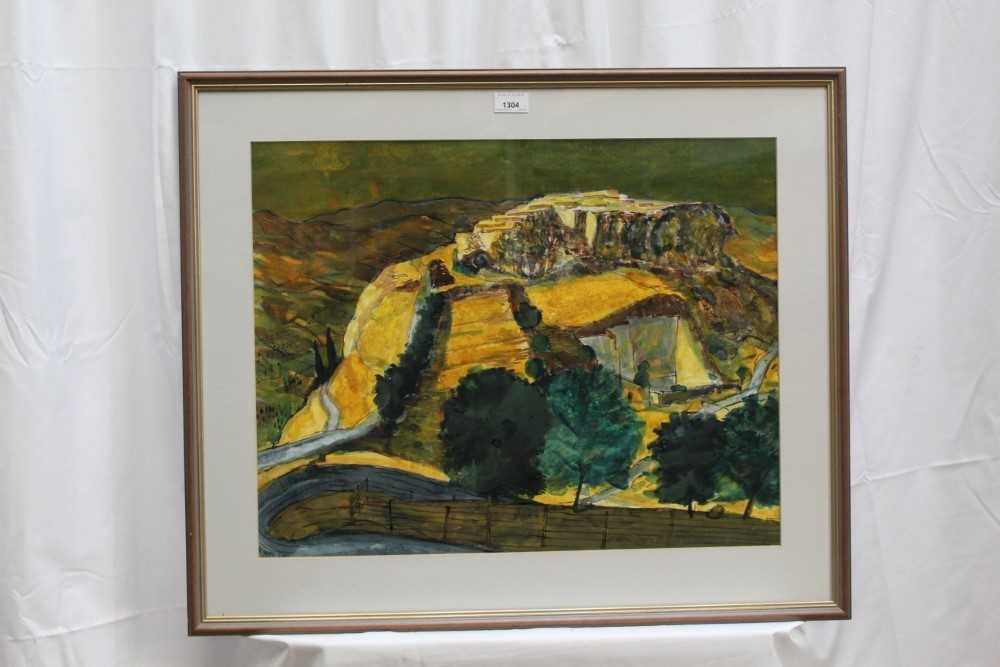 *Walter Hoyle (1922-2000) watercolour - A Valley, signed and dated '51, 46cm x 59cm, in glazed frame - Image 2 of 9