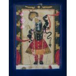 Very early, possibly 16th century Indian gouache miniature