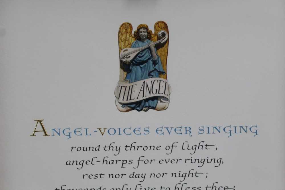 Denzil Reeves (1926-2008) coloured illumination 'Angel Voices ever singing' - Image 2 of 4