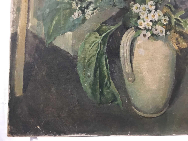 "Beryl Maud Sinclair (1901-1967) oil on canvas - ""An Essex Bouquet"", unframed - Image 2 of 8"
