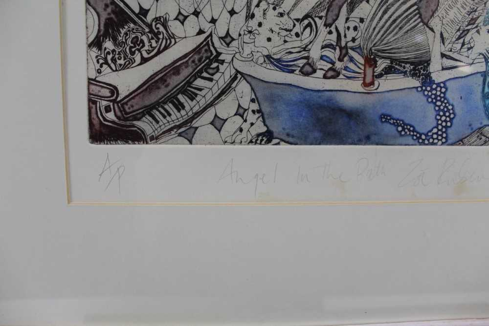 Group of contemporary signed etching etchings, prints and other works, mostly East Anglian artists t - Image 24 of 42