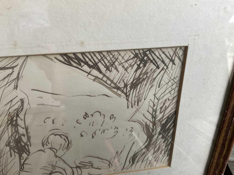 *Augustus John, pair of pen and ink drawings - Image 8 of 9