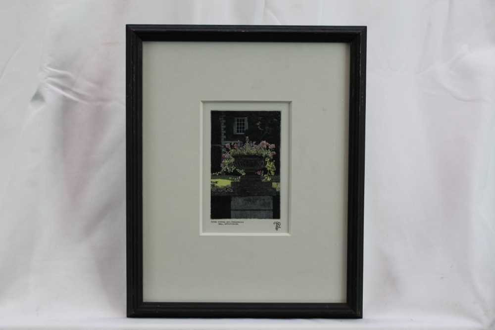 Anthony Dawson signed limited edition etching - Evening Sun, 31/80, in glazed frame Provenance: Th - Image 2 of 4