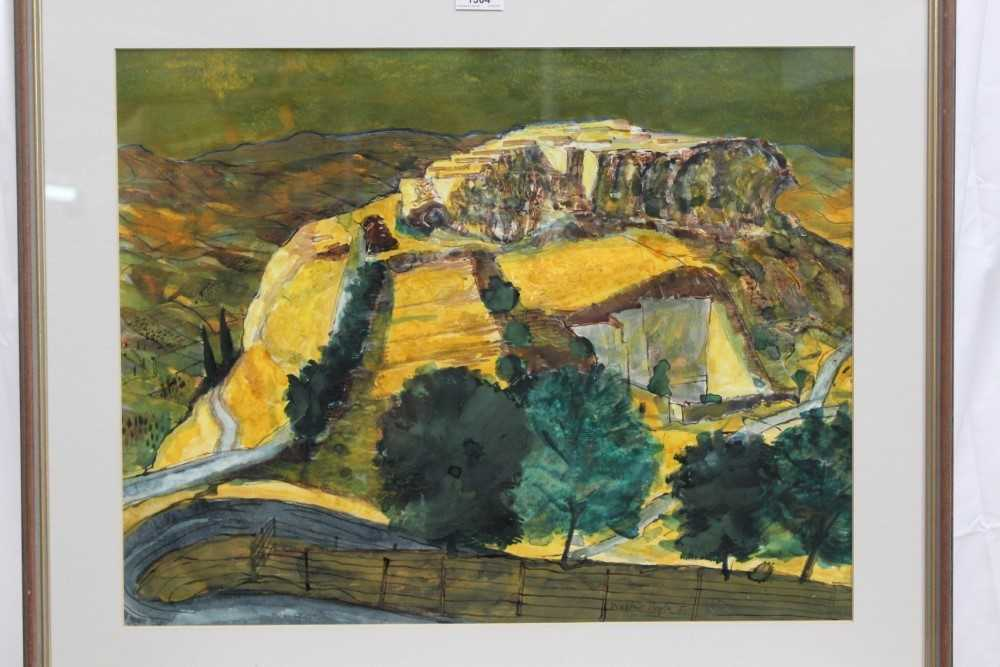 *Walter Hoyle (1922-2000) watercolour - A Valley, signed and dated '51, 46cm x 59cm, in glazed frame