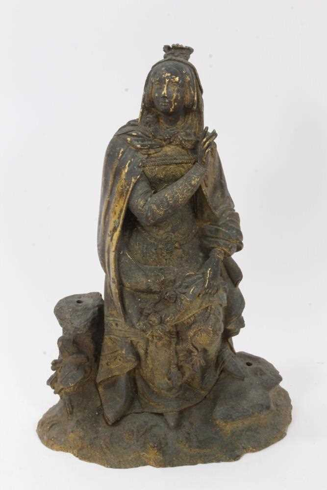 Mid 19th century ormolu figure of a woman