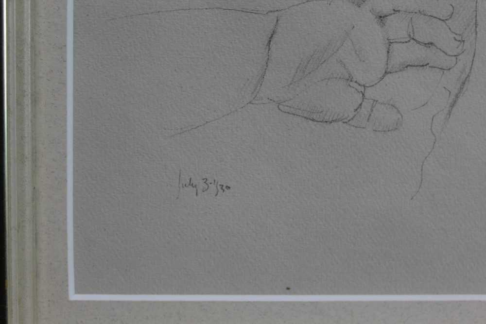 Robert Sargent Austin (1895-1973) pair of pencil drawings - Restful Sleep and Baby Asleep, one dated - Image 3 of 10