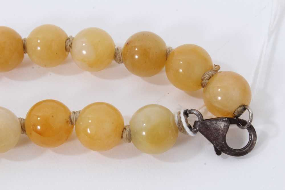 Jade bead necklace - Image 2 of 7