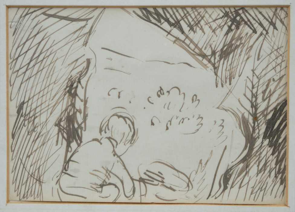 *Augustus John, pair of pen and ink drawings - Image 2 of 9