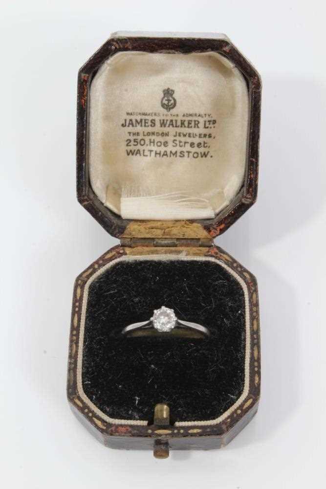 Diamond single stone ring - Image 4 of 4