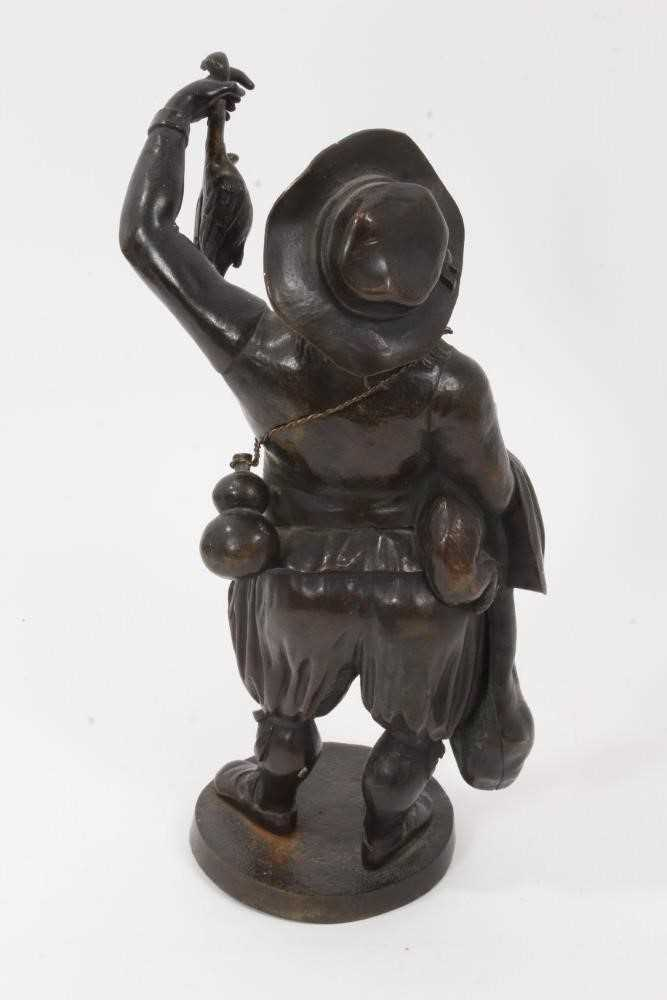 19th Century bronze figure of a game dealer - Image 2 of 5