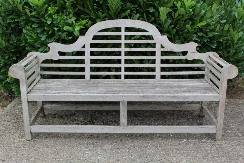 Lutyens style teak bench