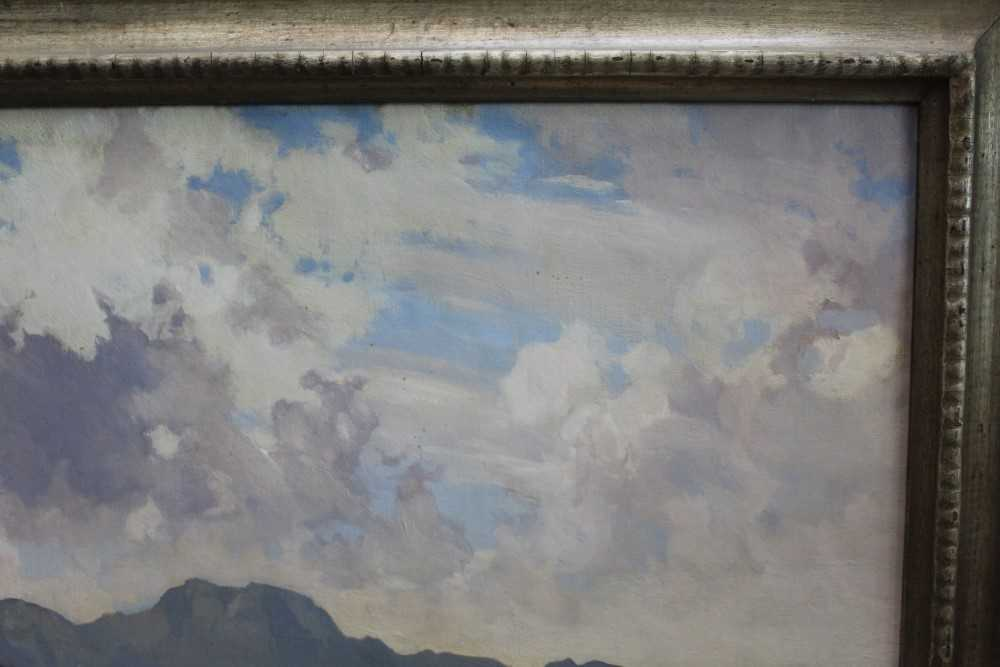 Lewis Taylor Gibb (1873-1945) oil on canvas - Extensive Scottish Landscape, signed, 63cm x 76cm, in - Image 5 of 14