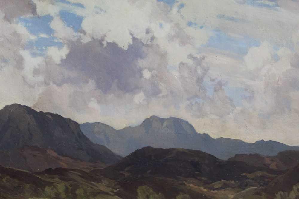 Lewis Taylor Gibb (1873-1945) oil on canvas - Extensive Scottish Landscape, signed, 63cm x 76cm, in - Image 12 of 14