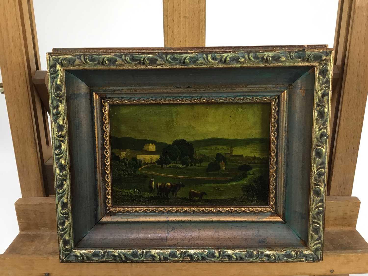 Jenny Simpson (1931-2020), Georgian-style glass pictures, framed and glazed - eight mixed pictures - Image 5 of 11