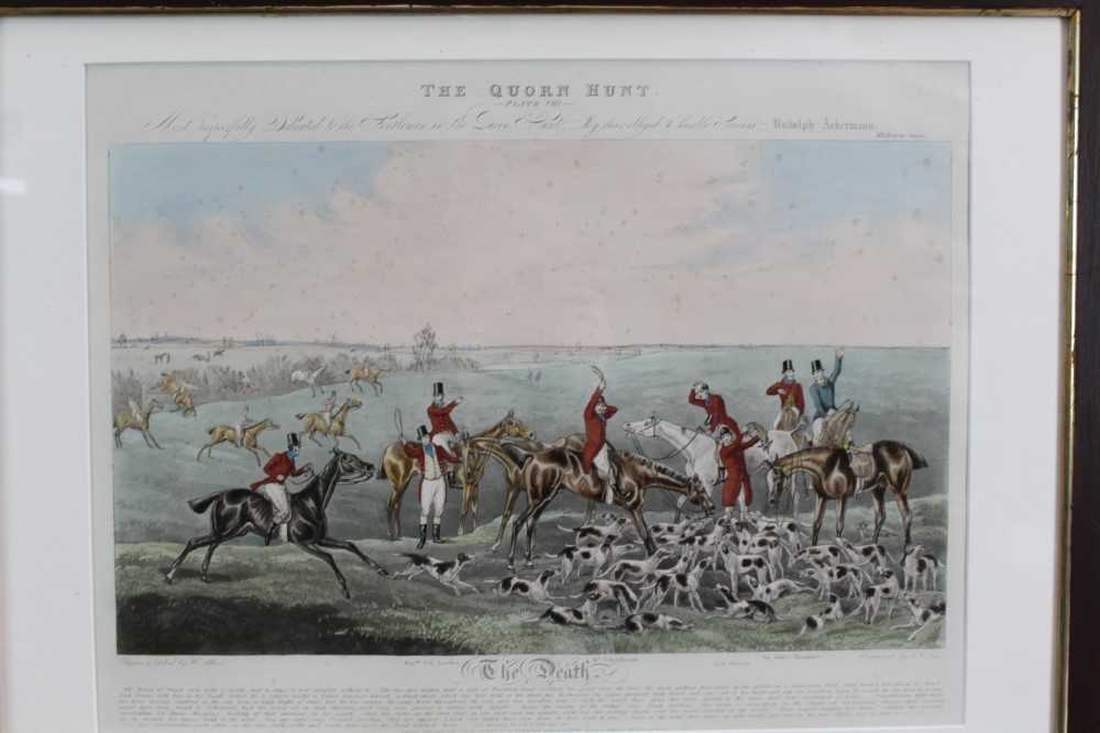 Henry Alken, five hand coloured engravings - The Quorn, in glazed frames - Image 16 of 19