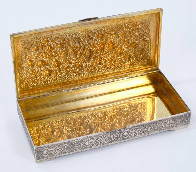 Iranian silver cigarette box. - Image 2 of 5
