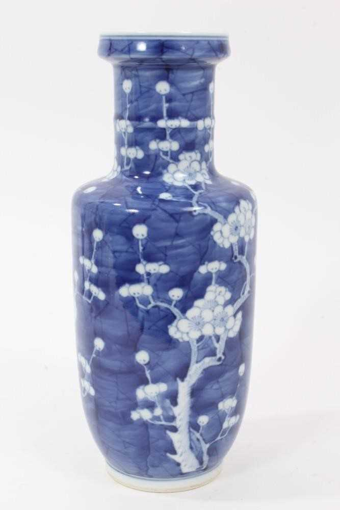19th/20th century Chinese prunus blossom rouleau vase - Image 3 of 5