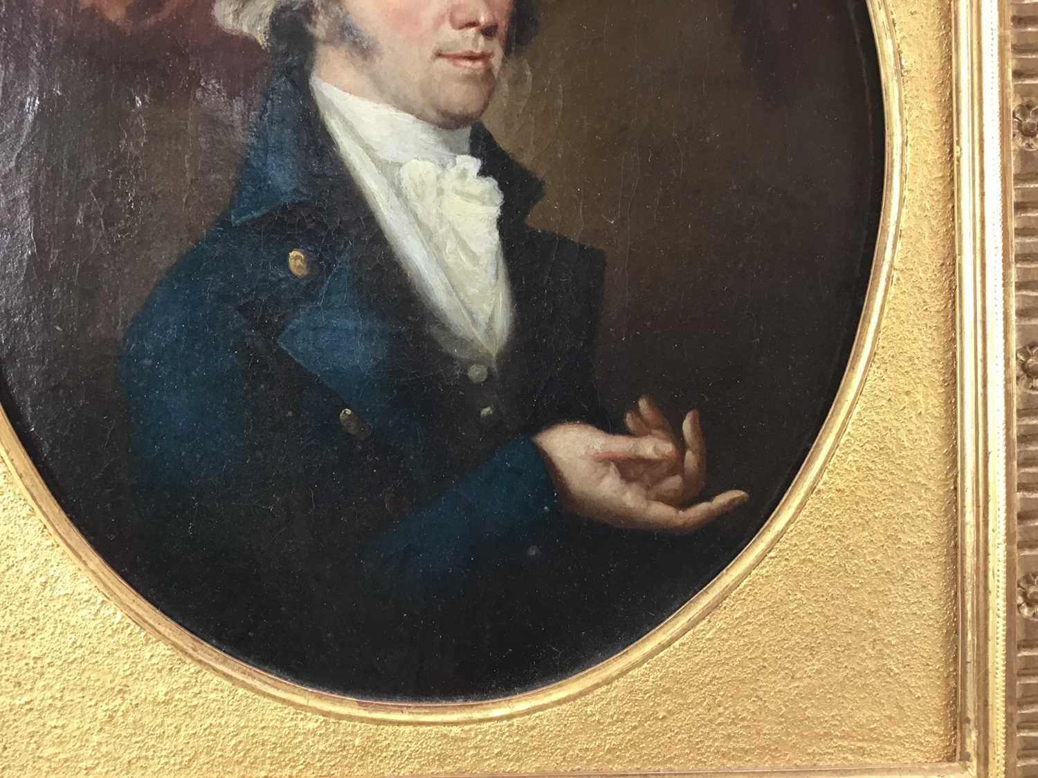 John Greham, late 18th century, oval oil on canvas - portrait of a gentleman, in gilt frame - Image 3 of 11