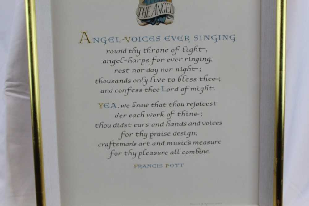 Denzil Reeves (1926-2008) coloured illumination 'Angel Voices ever singing' - Image 3 of 4