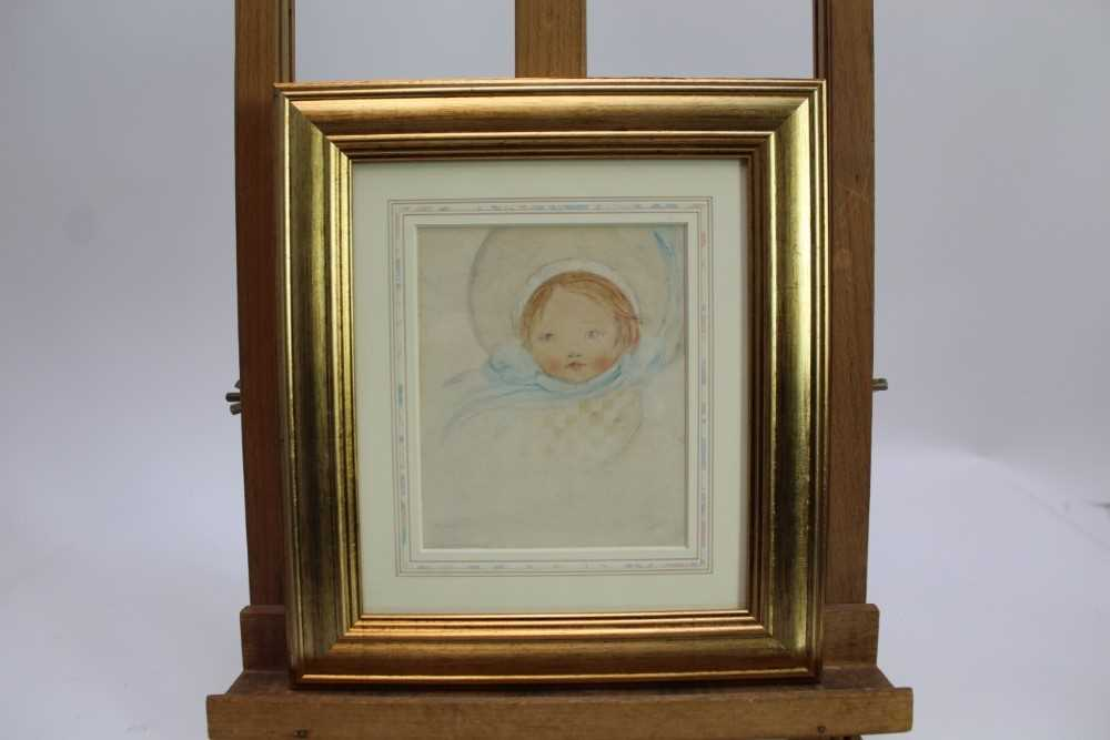 *Mabel Lucie Attwell (1879-1964) pencil and watercolour - The Blue Bonnet, signed, in glazed gilt fr - Image 2 of 6