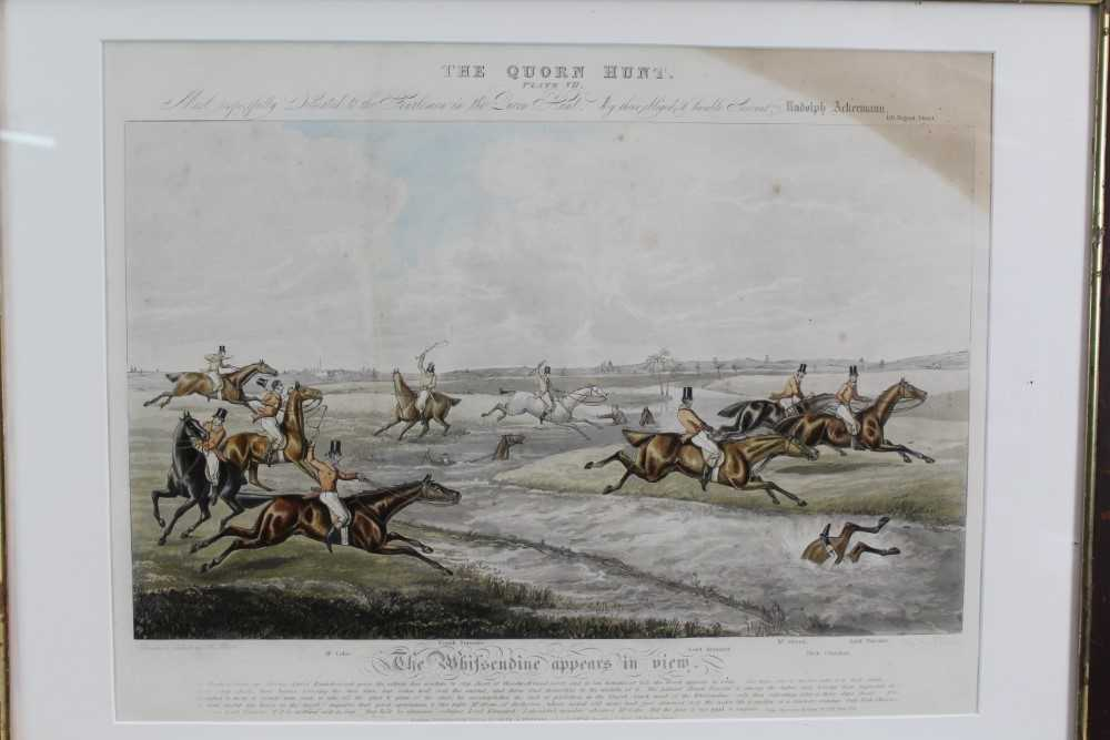 Henry Alken, five hand coloured engravings - The Quorn, in glazed frames - Image 12 of 19