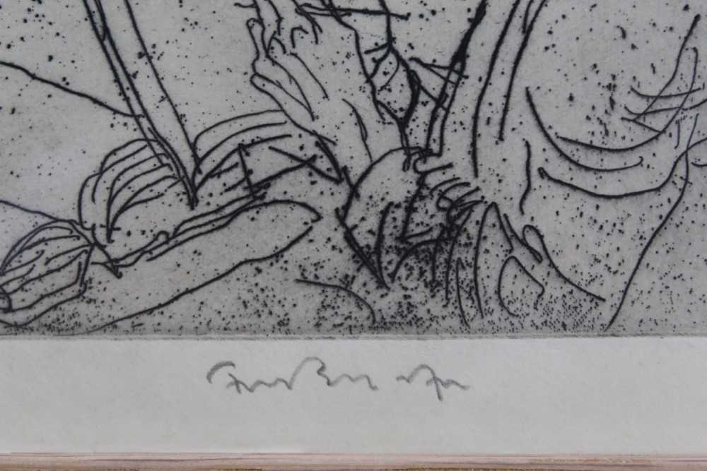 *Sir Frank Brangwyn (1867-1956) signed etching from 'L'Ombre de la Croix', 1931, in glazed frame P - Image 3 of 4