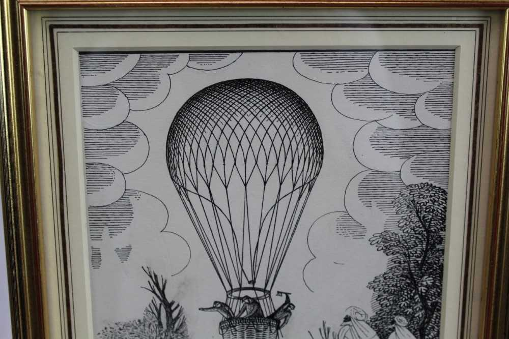 Eric Fraser (1902-1983) pen and ink on board - Five Weeks in a Balloon, signed, in glazed gilt frame - Image 3 of 5