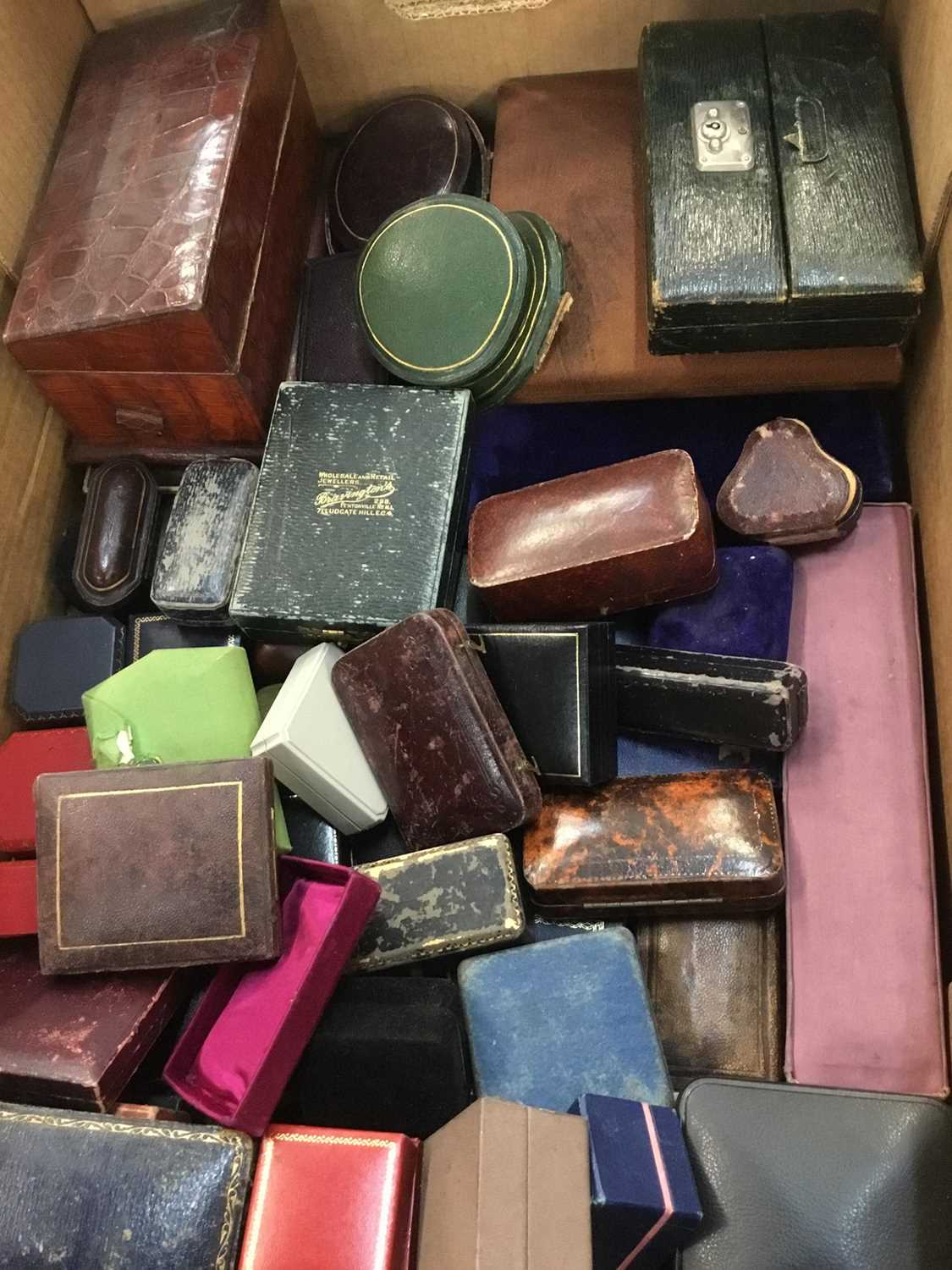 Collection of antique and vintage jewellery boxes various