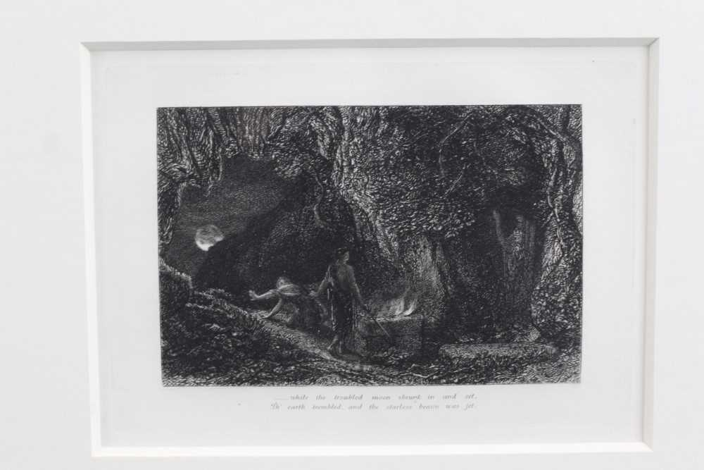Samuel Palmer (1805-1881) pair of etchings - The Sepulchre and The Cypress Grove, in glazed gilt fra