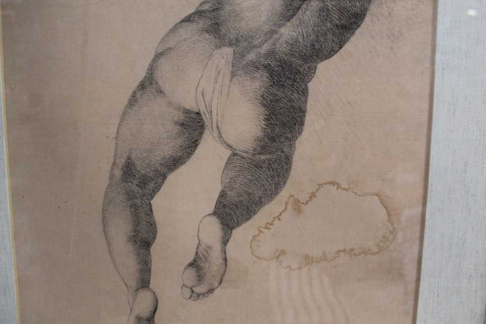 Manner of James Barry (1741-1806) pair of drawings - studies of the Sistine Chapel after Michelangel - Image 9 of 11