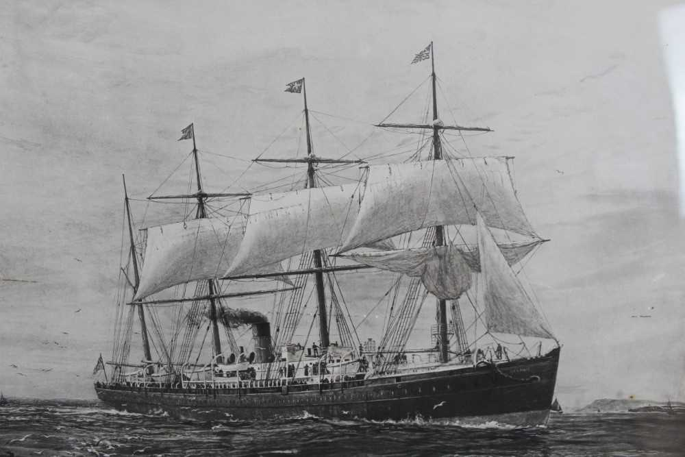 """William Lionel Wyllie (1851-1931) signed black and white engraving - White Star Line """"The Oceanic"""", - Image 8 of 15"""