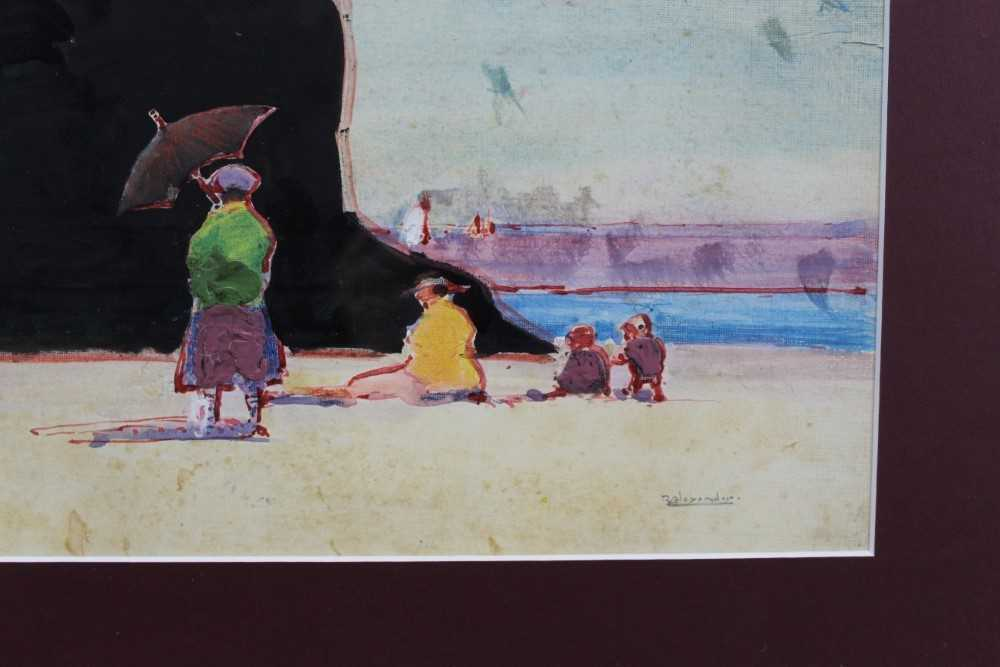 Robert G. D. Alexander (1875-1945) watercolour and oil on board - The Black Rock, signed, 22cm x 29c - Image 3 of 3