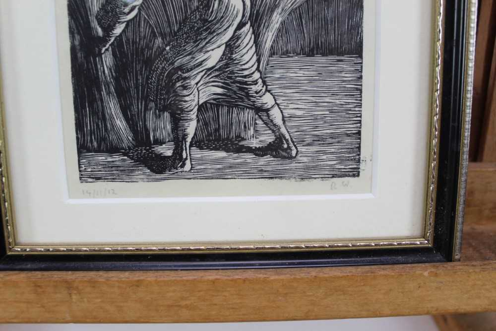 Group of contemporary signed etching etchings, prints and other works, mostly East Anglian artists t - Image 28 of 42