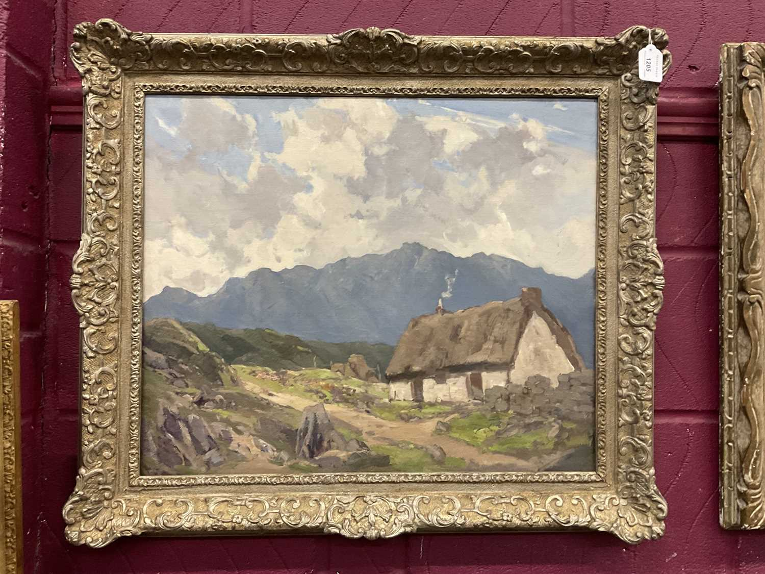 Lewis Taylor Gibb (1873-1945) oil on canvas - Crofters Cottage, 50cm x 61cm, in silvered frame - Image 6 of 9