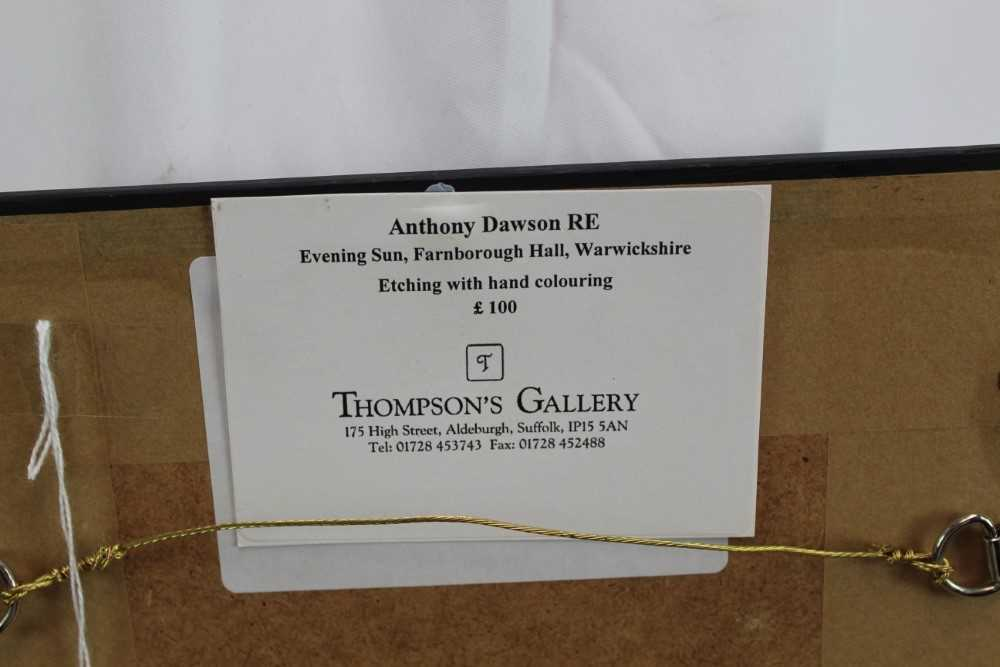 Anthony Dawson signed limited edition etching - Evening Sun, 31/80, in glazed frame Provenance: Th - Image 4 of 4