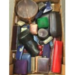 Collection of antique and vintage jewellery boxes various to include Victorian box for a suite of je