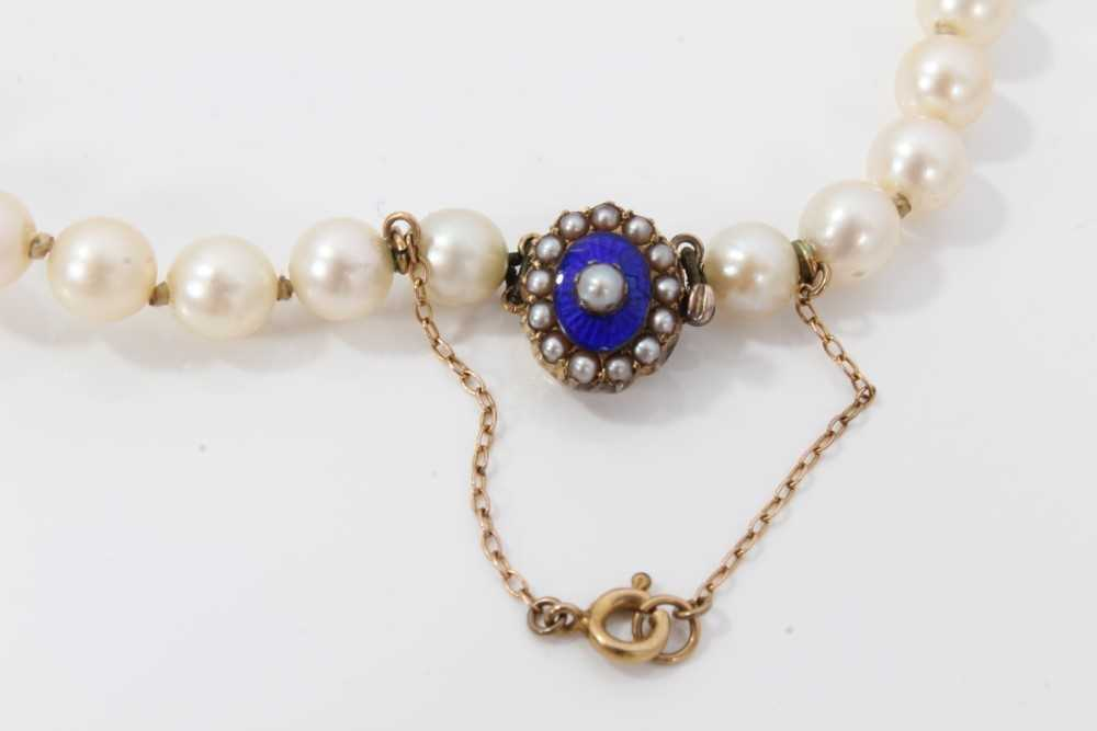 Cultured pearl necklace - Image 2 of 4