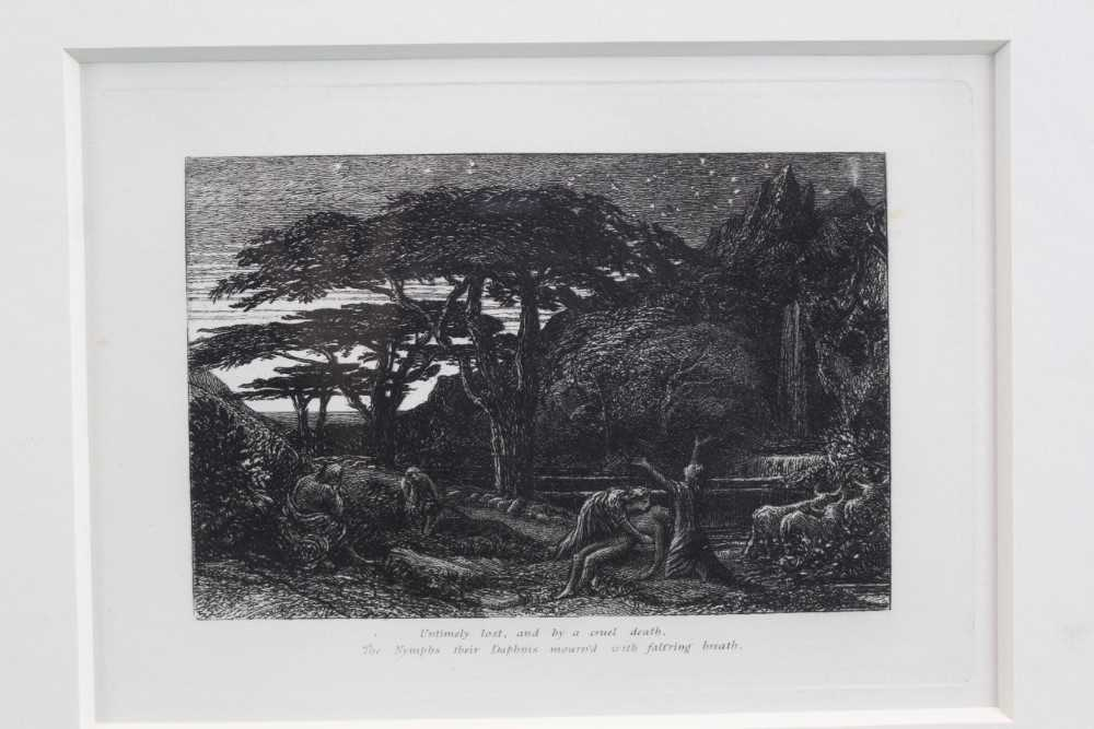 Samuel Palmer (1805-1881) pair of etchings - The Sepulchre and The Cypress Grove, in glazed gilt fra - Image 7 of 12