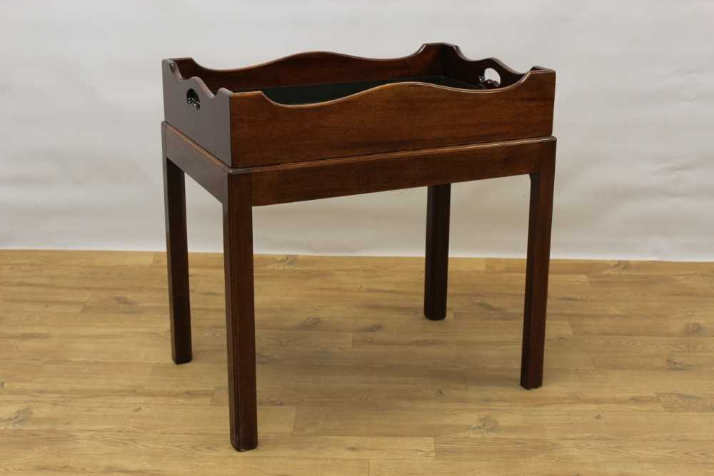 Mahogany butler's tray on stand - Image 5 of 5